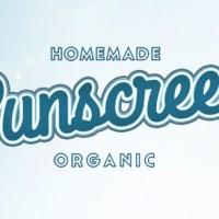Homemade Organic Sunscreen