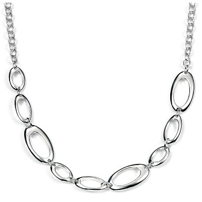 Sterling Silver Open Oval Link Necklace