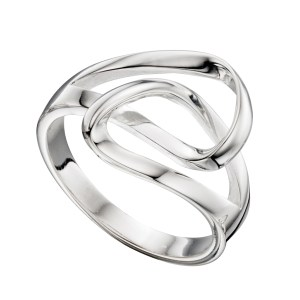 Sterling Silver Double Interlinked Loop Ring