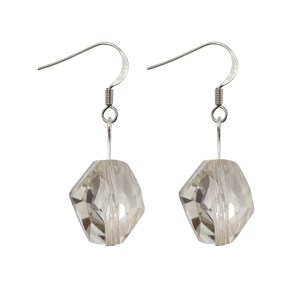Swarovski crystal silver shade cosmic sterling silver earrings