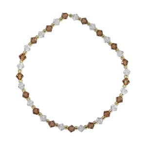 Swarovski crystal clear and light smoked topaz 4mm bicone bracelet