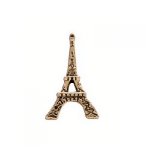 gold eiffel tower memory locket charm