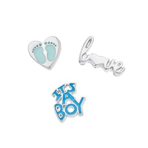 baby boy memory locket gift set