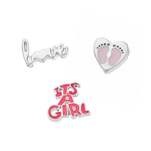 baby girl memory locket charm pack