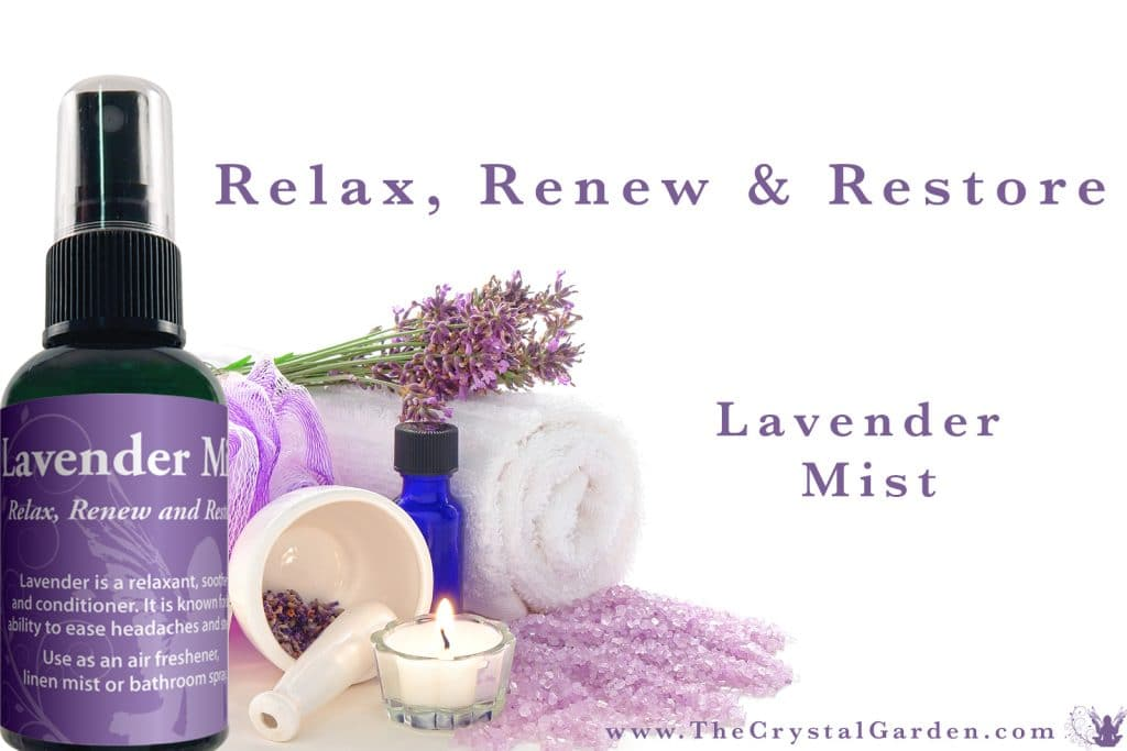 Lavender Aromatic Mist Spray Lavender is a relaxant, soother and conditioner. It is known for its ability to ease headaches and stress.
