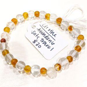 Citrine + Clear Quartz Bracelet