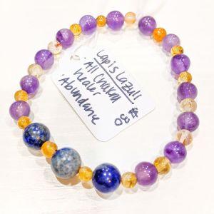 Lapis Lazuli + Citrine + Amethyst Bracelet