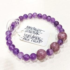 Amethyst + Lepidolite Bracelet