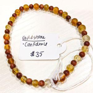 Citrine + Goldstone Bracelet