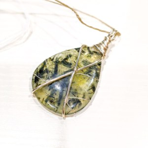 Epidote with Prenite Pendant