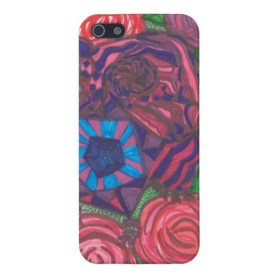 Hippie Roses iPhone case available in my Zazzle store