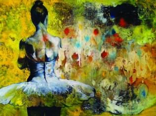 Entre Amarillos, by Alejandro Leyva, 2013, oil on canvas.