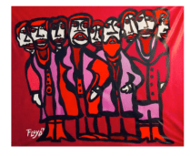 Title: La Familia Dimensions: 58 X 60 Acrylic on Canvas