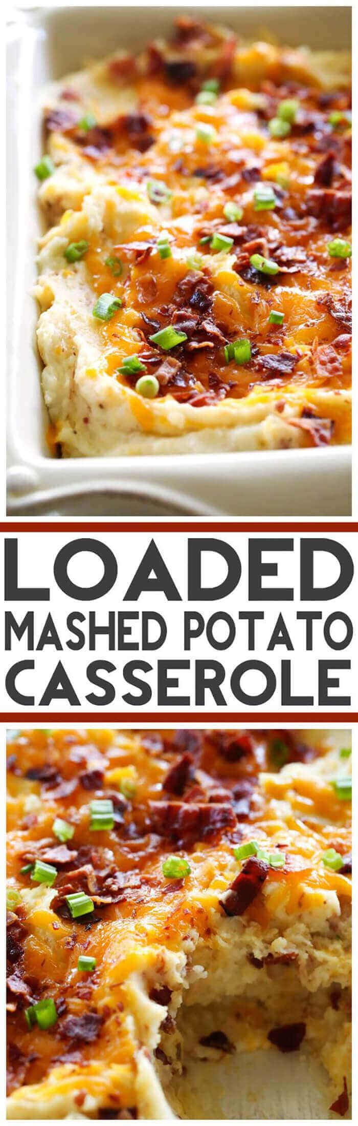 Loaded Mashed Potato Casserole-easter side dishes recipes-easter side dishes vegetables-easter side dishes make ahead-easter side dishes recipes veggies-easter side dishes recipes simple