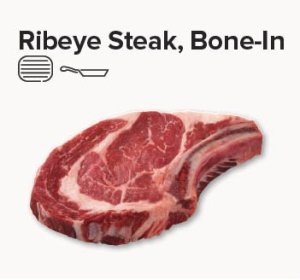 rib eye steak bone in