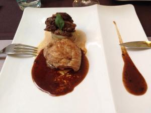 Perigueux sauce elegantly plated