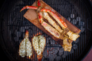grilling shellfish and fish
