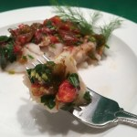 Recipe by Kristen Coffield of the Culinary cure for Wild Alaskan Cod with Fresh Herbs and Tomatoes in Foil