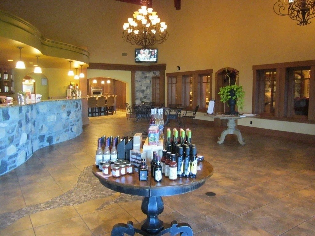 The wine tasting room at Hester Creek | ThecCulinaryTravelGuide.com