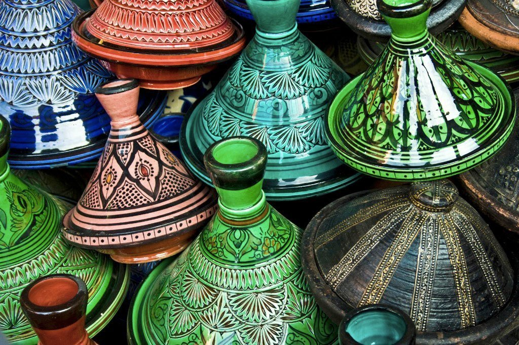 Multi-colored Tajines | Photo by Montse PB