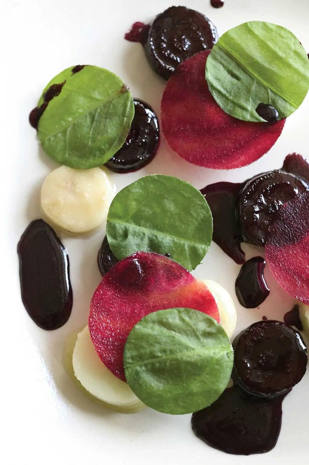 Glazed beets and apples at Restaurant noma, Copenhagen