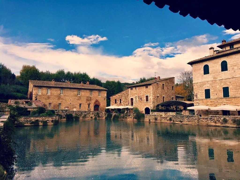 The Tuscan town of Bagno Vignoni