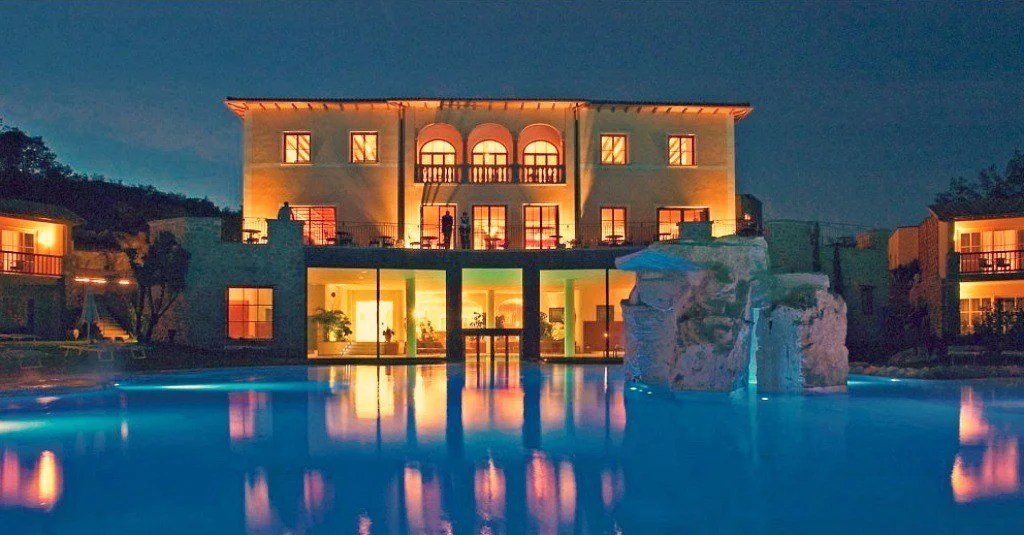 The best Bagno Vignoni Hotel for foodies - the Adler Thermae Toscana