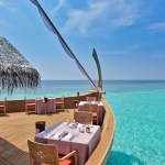 Who Else Wants to Eat in This Boat in the Maldives?