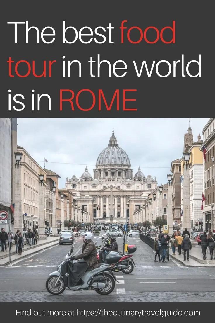 Best food tour rome