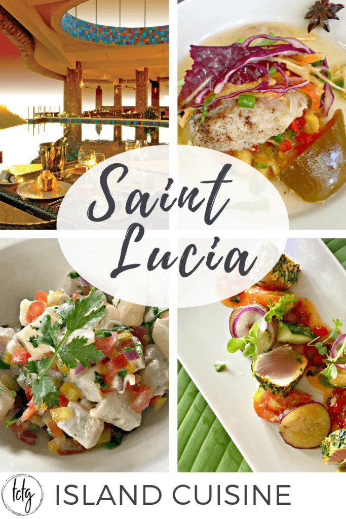 Pinterest collage for Saint Lucia cuisine