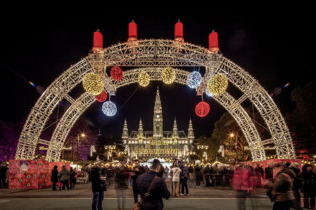Arches of Lights at the Christmas Markets in Vienna