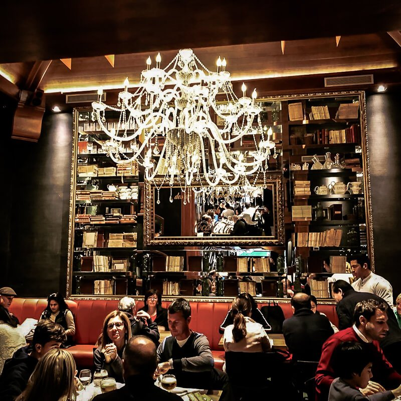 interior of cuidad condal restaurant serving paella in Barcelona