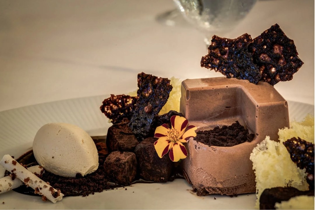 chocolate dessert on a plate