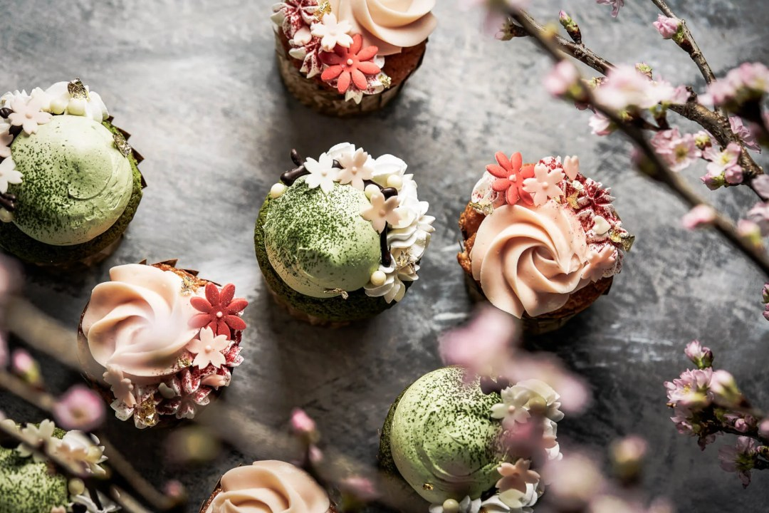 Sakura cupcakes available at the Shangri-La Hotel during Tokyo Cherry Blossom Season
