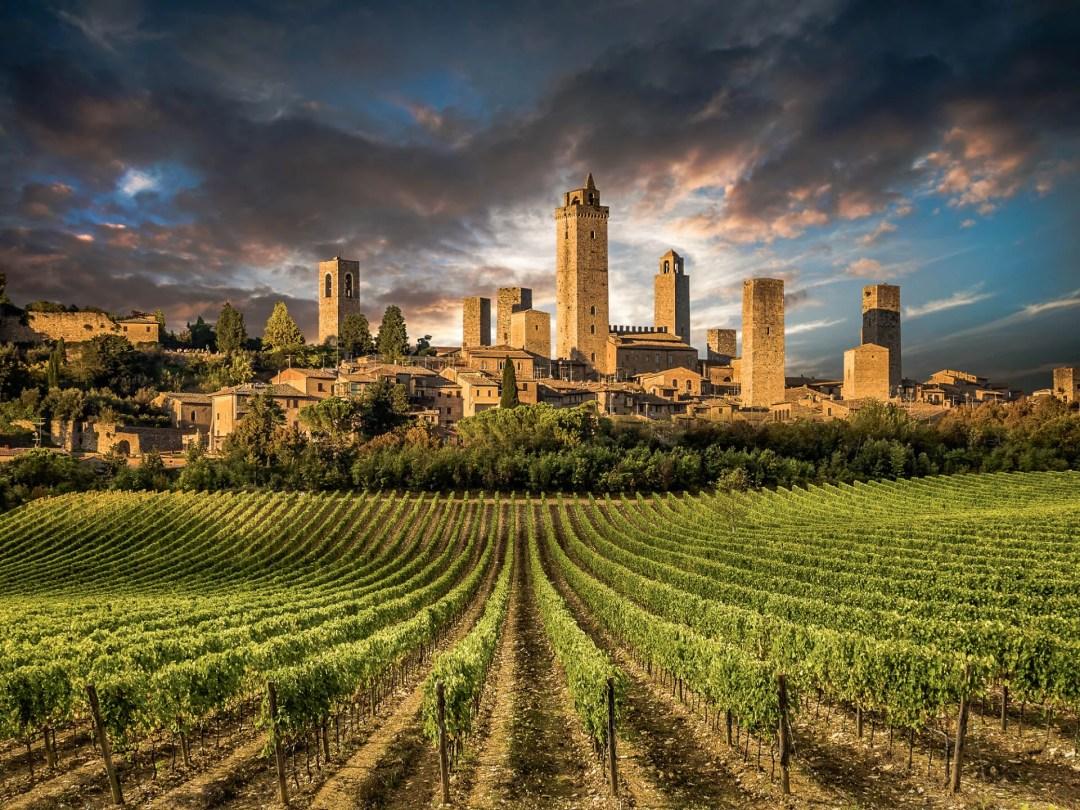 Vegan Travel Tours in Italy - visit San Gimignano