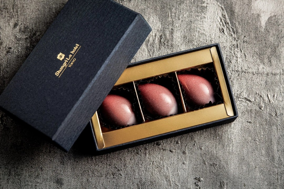 Sakura Bon Bons available at the Shangri-La Hotel during Tokyo Cherry Blossom Season