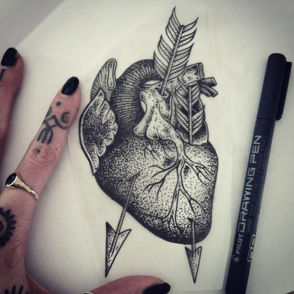 Hannah Pixie Snowdon - Tattoo art heart