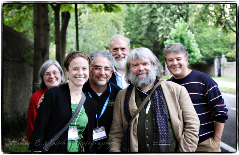 Kevin Belmonte in the company of friends at Oxbridge 2011 - image copyright Lancia E. Smith and the C.S. Lewis Foundation, 2011