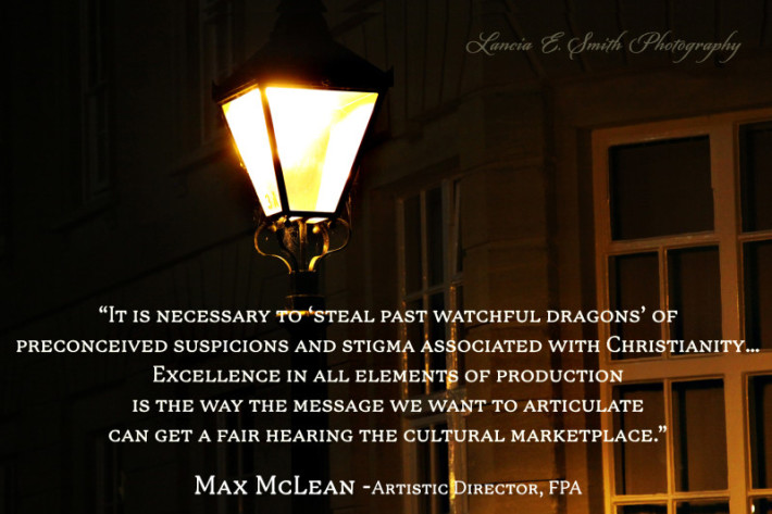 Stealing past watchful dragons - Max McLean - Image (c) Lancia E. Smith