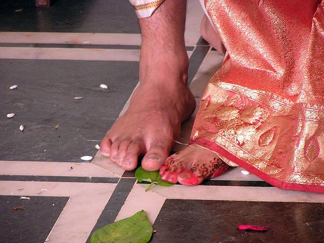 Indian wedding Saptapadi