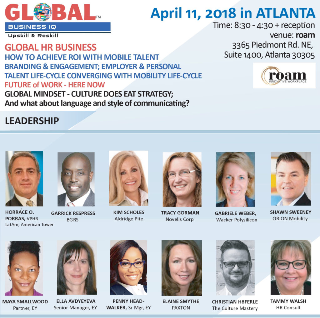 Global HR Business Conference Atlanta April 11