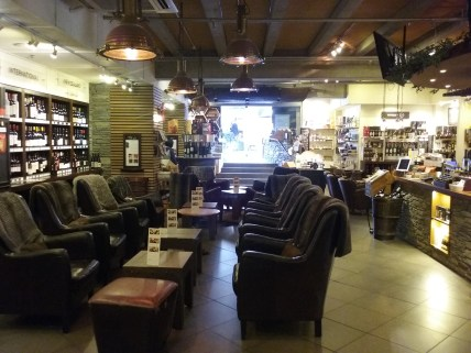 Interior of The Winery, Queenstown. Definitely a place to relax and take your time.