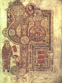 Opening page of the Gospel of Matthew from the Book of Kells, around 800 C.E.