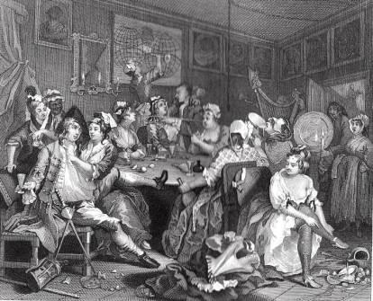 Hogarth, The Rake's Progress plate 3, 1731