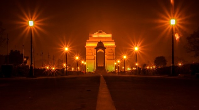 Image result for india gate at night