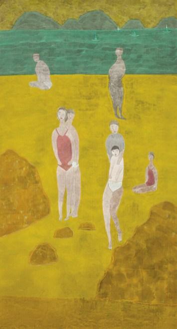 1993 水墨 設色 紙本 Ink and Colour on Paper 177 x 95.5 cm