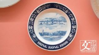 香港回歸紀念,1960至1970年代廣彩餐碟,用日本白瓷胎,膠印線條手繪