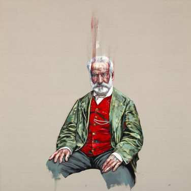 Zeng Fanzhi Victor Hugo 2018 Oil on canvas Photo: Oliver Helbig. Courtesy the artist and Hauser & Wirth