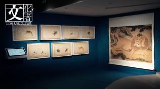 聶璜的《海錯圖》(左)和劉九德的《畫狻猊》(右)