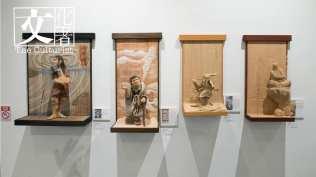 日本藝術家Takeshita Haguri 創作的浮世繪雕塑。